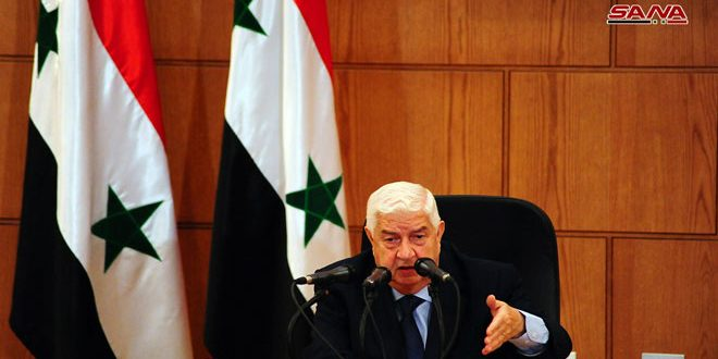 Пресс-конференция главы МИД САР Аль-Муаллема