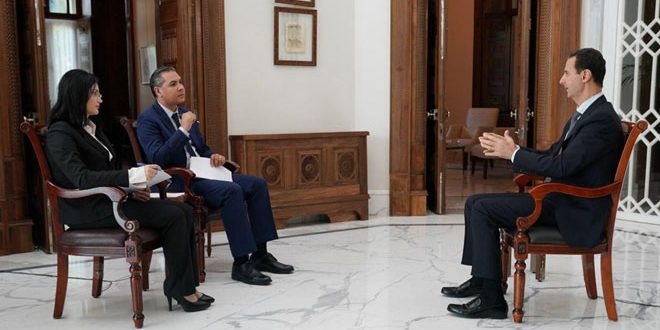 Интервью президента Башшара Аль-Асада сирийским телеканалам (Дамаск – САНА 31-10-2019)